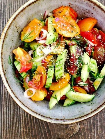 Zeleninovy Salat S Konopnym Seminkem