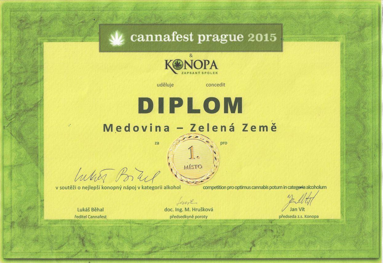 Konopna Medovina Certifikat Cannafest