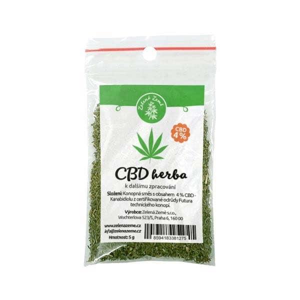 CBD Herba 4% k dalšímu zpracování 5g