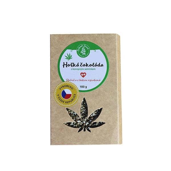 Pekas Handmade s.r.o. Hořká čokoláda s konopným semínkem 100g