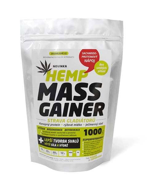 Zelená Země Konopný gainer Fitness 1kg