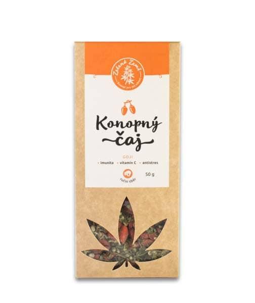 Zelená Země Konopný čaj s goji 50g