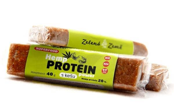 MARKOL FOOD, s.r.o. Proteinová tyčinka BIO konopí a kešu 40 g / balení 30 ks