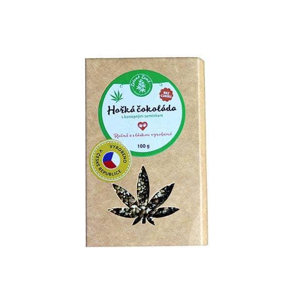 Pekas Handmade s.r.o. Hořká čokoláda s konopným semínkem 100g BEZ CUKRU!