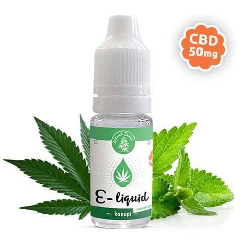 Zelená Země CBD e-liquid, příchuť Konopí spearmint, 10ml