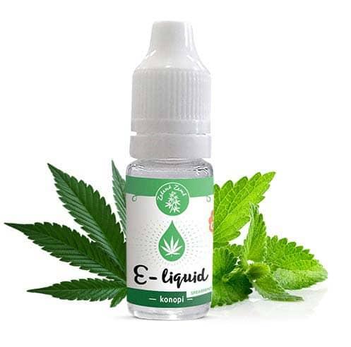 Zelená Země CBD e-liquid, příchuť Konopí spearmint 10ml