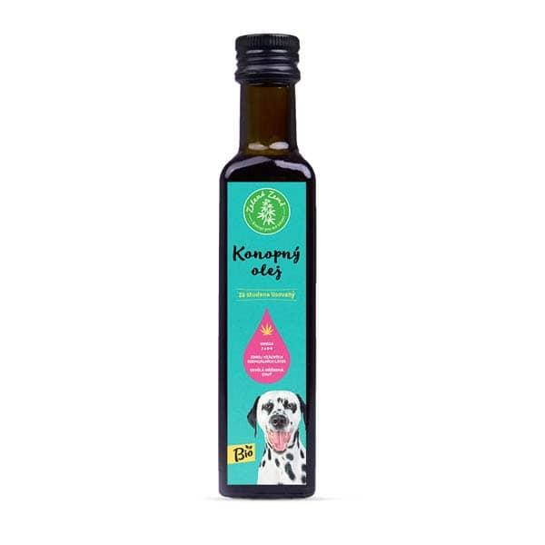 Zelená Země Konopný olej pro zvířata BIO  250ml