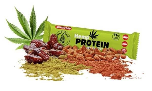 Zelená Země Proteinová tyčinka BIO konopí a kešu 40 g