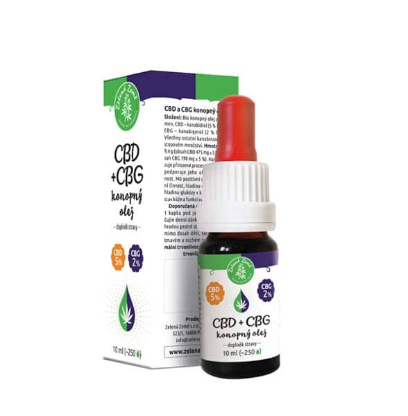 CBD 5% + CBG 2% konopný olej 10ml