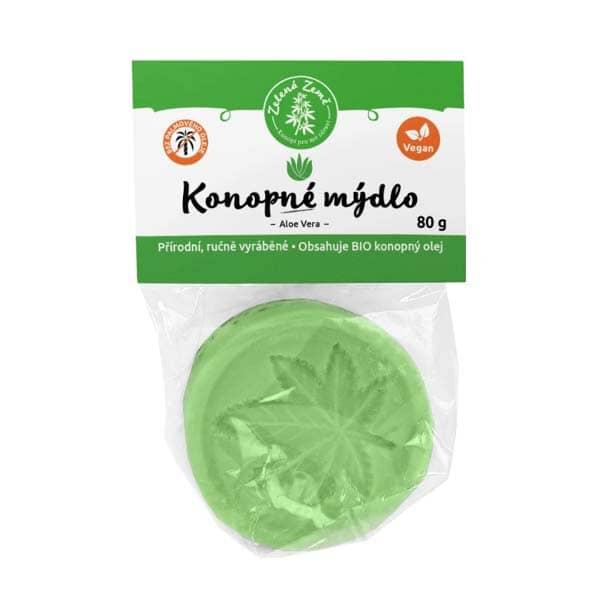 Zelená Země Konopné mýdlo Aloe Vera 80 g